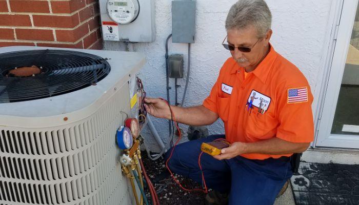 condenser Freon check